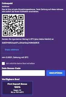 kryptozahlung bitcoincasino