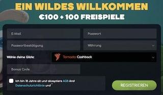 wildtornado registrierung