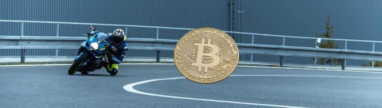 motorrad bitcoin rennen